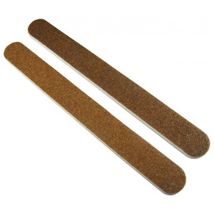 "Washable Brown Cushioned Nail Files - 7""L x 34""W - Grit 80100 - 50 Pack ()"