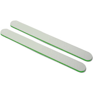 "Washable WhiteGreen Cushioned Nail Files - 7""L x 34""W - Grit 80100 - 50 Pack ()"