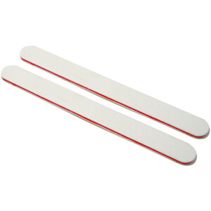 "Washable WhiteRed Cushioned Nail Files - 7""L x 34""W - Grit 100100 - 50 Pack ()"