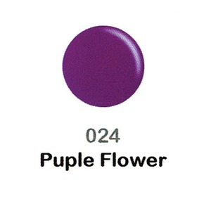 DND Duo Gel Pack - DC Collection - PURPLE FLOWER - #024 1 Gel Polish 0.47 oz. + 1 Lacquer 0.47 oz. in Matching Color (DND-DC-024)