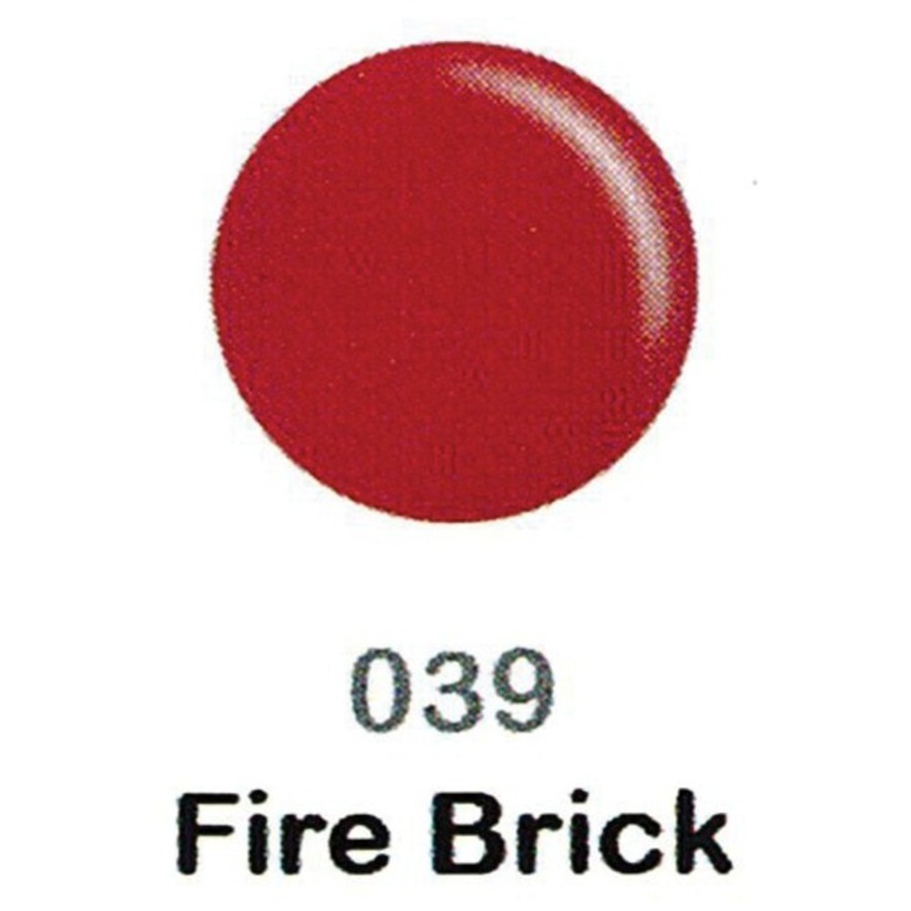 DND Duo Gel Pack - DC Collection - FIRE BRICK - #039 / 1 Gel Polish 0 47  oz  + 1 Lacquer 0 47 oz  in Matching Color (DND-DC-039)