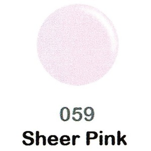 DND Duo Gel Pack - DC Collection - SHEER PINK - #059 1 Gel Polish 0.47 oz. + 1 Lacquer 0.47 oz. in Matching Color (DND-DC-059)