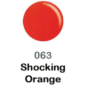 DND Duo Gel Pack - DC Collection - SHOCKING ORANGE - #063 1 Gel Polish 0.47 oz. + 1 Lacquer 0.47 oz. in Matching Color (DND-DC-063)