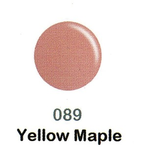 DND Duo Gel Pack - DC Collection - YELLOW MAPLE - #089 1 Gel Polish 0.47 oz. + 1 Lacquer 0.47 oz. in Matching Color (DND-DC-089)