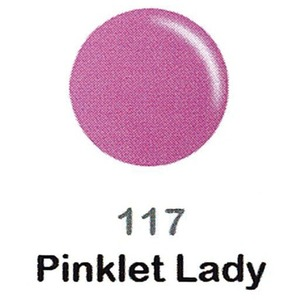 DND Duo Gel Pack - DC Collection - PINKLET LADY - #117 1 Gel Polish 0.47 oz. + 1 Lacquer 0.47 oz. in Matching Color (DND-DC-117)