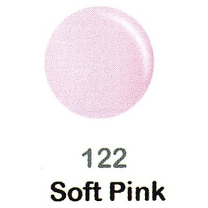 DND Duo Gel Pack - DC Collection - SOFT PINK - #122 1 Gel Polish 0.47 oz. + 1 Lacquer 0.47 oz. in Matching Color (DND-DC-122)