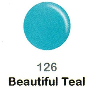 DND Duo Gel Pack - DC Collection - BEAUTIFUL TEAL - #126 1 Gel Polish 0.47 oz. + 1 Lacquer 0.47 oz. in Matching Color (DND-DC-126)