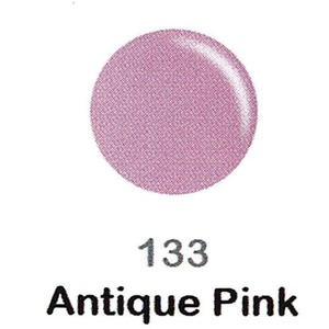 DND Duo Gel Pack - DC Collection - ANTIQUE PINK - #133 1 Gel Polish 0.47 oz. + 1 Lacquer 0.47 oz. in Matching Color (DND-DC-133)