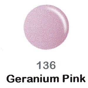 DND Duo Gel Pack - DC Collection - GERANIUM PINK - #136 1 Gel Polish 0.47 oz. + 1 Lacquer 0.47 oz. in Matching Color (DND-DC-136)