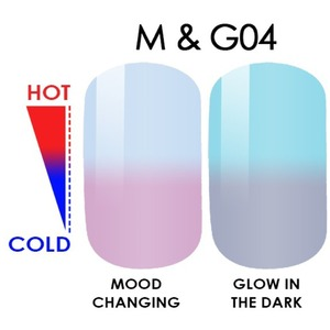 WaveGel MOOD Glow in the Dark Soak Off Gel Polish - #M & G04 0.5 oz. (mood-glow4)