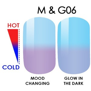WaveGel MOOD Glow in the Dark Soak Off Gel Polish - #M & G06 0.5 oz. (mood-glow6)