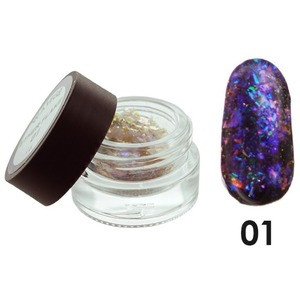 WaveGel Color MOOD Soak Off Gel Polish - Ether Flake - #1 0.5 oz. (mood-flake1)