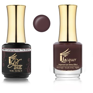 iGel Matched Set B Collection - 1 iGel Impecable Soaked-off Gel Polish 0.5 oz. + 1 iLacquer Matching Nail Lacquer Color 0.5 oz. - CAMPING UNDER THE STARS #B06 (20096-B06)