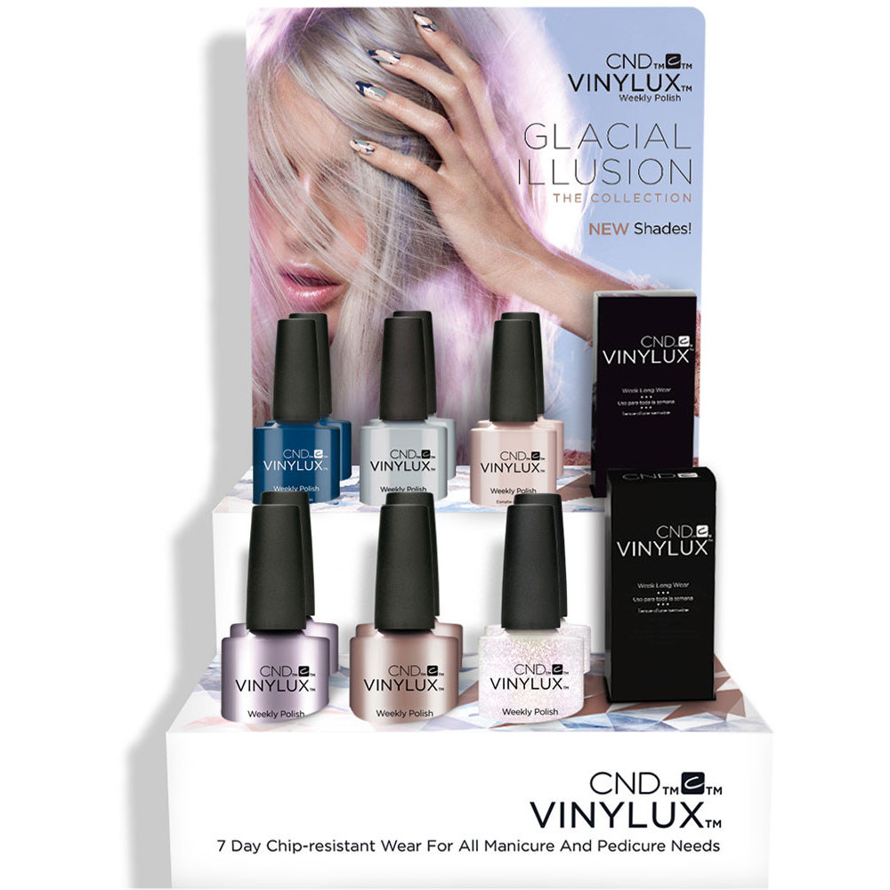 CND Vinylux - Glacial Illusion The Collection - 14 Piece POP Display ...
