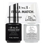 IBD It's a Match Duo - TOP COAT - #65464 a Matching Set - (1) Advanced Wear Pro Lacquer 0.5 oz. + (1) Just Gel Polish 0.5 oz. (24433)