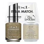 IBD It's a Match Duo - ALL THAT GLITTER - #65470 a Matching Set - (1) Advanced Wear Pro Lacquer 0.5 oz. + (1) Just Gel Polish 0.5 oz. (24439)
