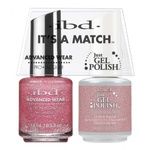 IBD It's a Match Duo - DEBUTANTE BALL - #65480 a Matching Set - (1) Advanced Wear Pro Lacquer 0.5 oz. + (1) Just Gel Polish 0.5 oz. (24447)