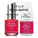 IBD It's a Match Duo - STARBURST - #65492 a Matching Set - (1) Advanced Wear Pro Lacquer 0.5 oz. + (1) Just Gel Polish 0.5 oz. (24456)