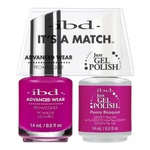 IBD It's a Match Duo - PEONY BOUQUET - #65497 a Matching Set - (1) Advanced Wear Pro Lacquer 0.5 oz. + (1) Just Gel Polish 0.5 oz. (24461)