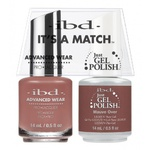 IBD It's a Match Duo - MAUVE OVER - #65503 a Matching Set - (1) Advanced Wear Pro Lacquer 0.5 oz. + (1) Just Gel Polish 0.5 oz. (24465)