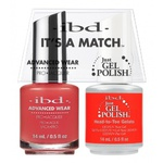IBD It's a Match Duo - HEAD TO TOE GELATO - #65508 a Matching Set - (1) Advanced Wear Pro Lacquer 0.5 oz. + (1) Just Gel Polish 0.5 oz. (24469)