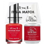 IBD It's a Match Duo - BURNING FLAME - #65512 a Matching Set - (1) Advanced Wear Pro Lacquer 0.5 oz. + (1) Just Gel Polish 0.5 oz. (24473)