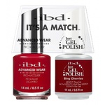 IBD It's a Match Duo - BING CHERRIES - #65515 a Matching Set - (1) Advanced Wear Pro Lacquer 0.5 oz. + (1) Just Gel Polish 0.5 oz. (24476)