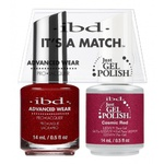 IBD It's a Match Duo - COSMIC RED - #65518 a Matching Set - (1) Advanced Wear Pro Lacquer 0.5 oz. + (1) Just Gel Polish 0.5 oz. (24479)