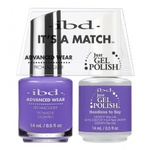 IBD It's a Match Duo - HEEDLESS TO SAY - #65529 a Matching Set - (1) Advanced Wear Pro Lacquer 0.5 oz. + (1) Just Gel Polish 0.5 oz. (24490)