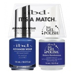 IBD It's a Match Duo - RIVIERA RENDEZVOUS - #65543 a Matching Set - (1) Advanced Wear Pro Lacquer 0.5 oz. + (1) Just Gel Polish 0.5 oz. (24504)