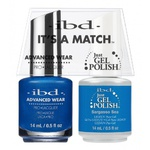 IBD It's a Match Duo - SARGASSO SEA - #65545 a Matching Set - (1) Advanced Wear Pro Lacquer 0.5 oz. + (1) Just Gel Polish 0.5 oz. (24506)