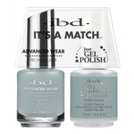 IBD It's a Match Duo - CALM OASIS - #65548 a Matching Set - (1) Advanced Wear Pro Lacquer 0.5 oz. + (1) Just Gel Polish 0.5 oz. (24509)
