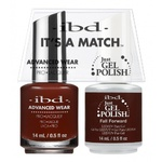 IBD It's a Match Duo - FALL FORWARD - #65561 a Matching Set - (1) Advanced Wear Pro Lacquer 0.5 oz. + (1) Just Gel Polish 0.5 oz. (24522)