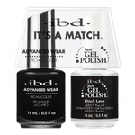 IBD It's a Match Duo - BLACK LAVA - #65569 a Matching Set - (1) Advanced Wear Pro Lacquer 0.5 oz. + (1) Just Gel Polish 0.5 oz. (24529)