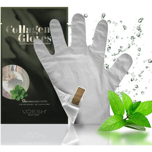 UV Protective Deep Moisturizing Phyto Collagen & Herb Extract Hand Mask Gloves with Pre-cut Fingertips for Easy Manicures / 1 Pair by Voesh of New York