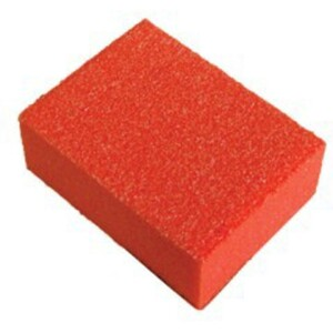 "Mini Nail Buffer - Orange-White 80100 Grit Pack of 30 Pieces - 1""x1.375""x0.5"" Each (14918-MBOW5)"