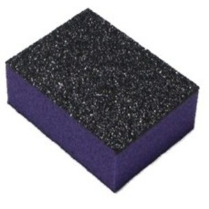 "Mini Nail Buffer - Purple-Black 100180 Grit Case of 1500 Pieces - 1""x1.375""x0.5"" Each (10832-MBPB2)"