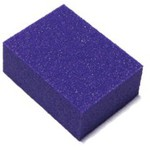 "Mini Nail Buffer - Purple-White 100120 Grit Pack of 30 Pieces - 1""x1.375""x0.5"" Each (14918-MBPW4)"