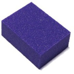"Mini Nail Buffer - Purple-White 80100 Grit Pack of 30 Pieces - 1""x1.375""x0.5"" Each (14918-MBPW5)"
