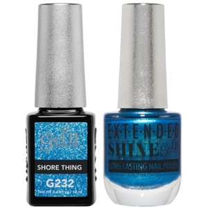 La Palm Gel II No Base Coat Gel Polish + Matching Extended Shine Polish - Seaside Shimmer Collection - SHORE THING (#G232 - #ES232)