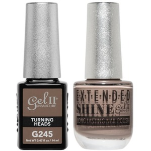 La Palm Gel II No Base Coat Gel Polish + Matching Extended Shine Polish - True Beauty Nude Collection - TURNING HEADS (#G245 - #ES245)
