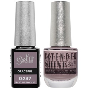 La Palm Gel II No Base Coat Gel Polish + Matching Extended Shine Polish - True Beauty Nude Collection - GRACEFUL (#G247 - #ES247)