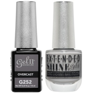 La Palm Gel II No Base Coat Gel Polish + Matching Extended Shine Polish - Essence of Autumn Collection - OVERCAST (#G252 - #ES252)