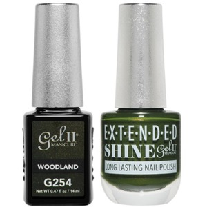 La Palm Gel II No Base Coat Gel Polish + Matching Extended Shine Polish - Essence of Autumn Collection - WOODLAND (#G254 - #ES254)