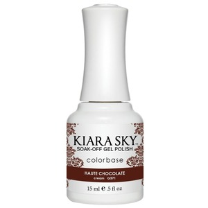 Kiara Sky Soak Off Gel Polish + Matching Lacquer - Dream of Paris Collection - HAUTE CHOCOLATE - #571 (#571)
