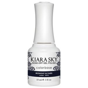 Kiara Sky Soak Off Gel Polish + Matching Lacquer - Dream of Paris Collection - MIDNIGHT IN PARIS - #572 (#572)