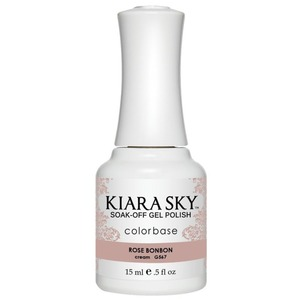 Kiara Sky Soak Off Gel Polish + Matching Lacquer - Dream of Paris Collection - ROSE BON BON - #567 (#567)