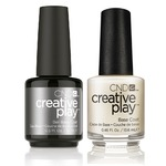 CND Creative Play Duo - BASE COAT - (1) Gel Polish 0.5 oz.-15 mL. + (1) Nail Lacquer 0.46 oz.-13.6 mL. (cnd-playBASE)