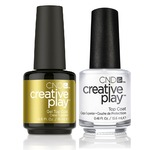 CND Creative Play Duo - TOP COAT - (1) Gel Polish 0.5 oz.-15 mL. + (1) Nail Lacquer 0.46 oz.-13.6 mL. (cnd-playTOP)