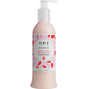 OPI Avojuice Hand & Body Lotion - Peony and Poppy 8.5 oz. (AVP08)
